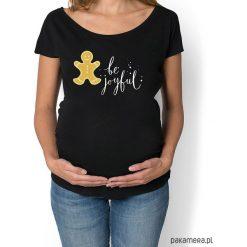 Bluzki asymetryczne: koszulka damska, ciążowa z ciasteczkiem