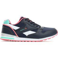 Granatowo-Różowe Buty Sportowe Mastermind. Czerwone buciki niemowlęce chłopięce Born2be, z materiału, z okrągłym noskiem, na płaskiej podeszwie, na sznurówki. Za 59,99 zł.