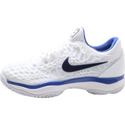 Buty sportowe damskie: Nike Performance AIR ZOOM CAGE 3 HC Obuwie multicourt white/binary bluemega blue