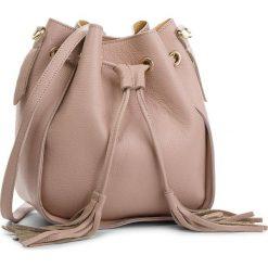 Torebka CREOLE - K10540  Pudrowy Róż. Czerwone torebki klasyczne damskie Creole, ze skóry, bez dodatków. W wyprzedaży za 159,00 zł.