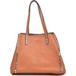 Torebka w kolorze koniaku - (S)37 x (W)26 x (G)17 cm. Brązowe torebki klasyczne damskie Bestsellers bags, z materiału. W wyprzedaży za 319,95 zł.