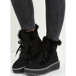 Czarne Śniegowce Everything is Perfect. Czarne buty zimowe damskie marki TOMMY HILFIGER, z materiału. Za 99,99 zł.