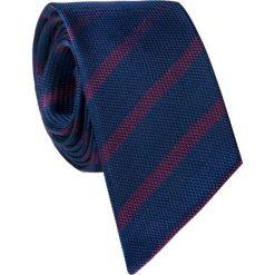 Jedwabny krawat KWGS000258. Niebieskie krawaty męskie Giacomo Conti, z jedwabiu, eleganckie. Za 129,00 zł.