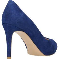 Czółenka OLIVIA. Niebieskie buty ślubne damskie Gino Rossi, ze skóry, na wysokim obcasie, na szpilce. Za 249,90 zł.