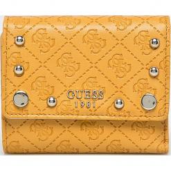 Guess Jeans - Portfel. Pomarańczowe portfele damskie Guess Jeans, z aplikacjami, z jeansu. Za 259,90 zł.