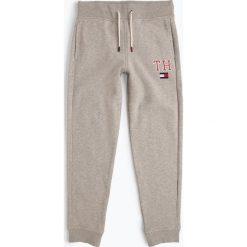 Tommy Hilfiger - Chłopięce spodnie dresowe, szary. Szare chinosy chłopięce TOMMY HILFIGER, z dresówki. Za 249,95 zł.