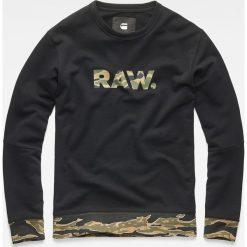 G-Star Raw - Bluza. Czarne bluzy męskie rozpinane marki G-Star RAW, m, z nadrukiem, z bawełny, bez kaptura. Za 369,90 zł.