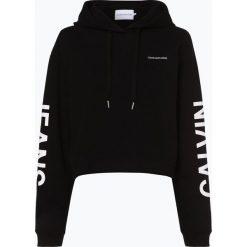 Calvin Klein Jeans - Damska bluza nierozpinana, czarny. Czarne bluzy sportowe damskie Calvin Klein Jeans, s, z jeansu. Za 489,95 zł.