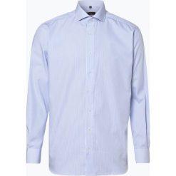Eterna Modern Fit - Koszula męska – niewymagająca prasowania, niebieski. Szare koszule męskie non-iron marki S.Oliver, l, z bawełny, z włoskim kołnierzykiem, z długim rękawem. Za 149,95 zł.