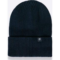Marc O'Polo - Czapka + szalik. Czarne czapki męskie Marc O'Polo, na zimę, z bawełny. W wyprzedaży za 219,90 zł.