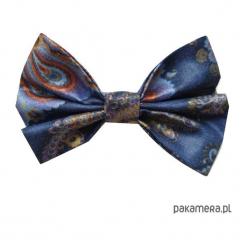 Mucha / Muszka Męska - Niebieska Mandala. Niebieskie muchy męskie marki Pakamera, z bawełny. Za 65,00 zł.