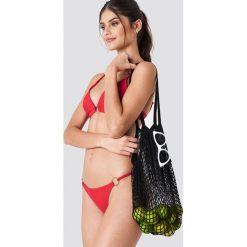 J&K Swim X NA-KD Dół bikini z okrągłym detalem - Red. Czerwone bikini J&K Swim x NA-KD, w paski. Za 52,95 zł.