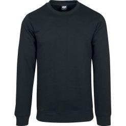 Urban Classics Basic Terry Crew Sweter czarny. Niebieskie swetry klasyczne męskie marki Urban Classics, l, z okrągłym kołnierzem. Za 79,90 zł.