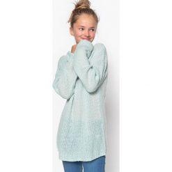 Długi sweter 10-16 lat. Brązowe swetry chłopięce La Redoute Collections, z okrągłym kołnierzem. Za 83,96 zł.