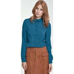 Bluzki damskie: Zielona Klasyczna Bluzka Koszulowa