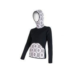 Sensor Bluza Z Kapturem Tecnostretch Black M. Czarne bluzy sportowe damskie marki DOMYOS, z elastanu. Za 319,00 zł.