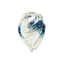 WIELOFUNKCYJNY ZAPINANY SZAL BLUE. Niebieskie szaliki damskie CADOaccessories, z dzianiny. Za 169,00 zł.
