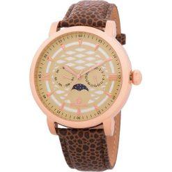 """Zegarki męskie: Zegarek """"Akron"""" w kolorze brązowo-różowozłoto-beżowym"""