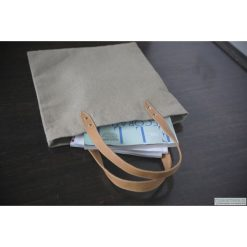 Shopper bag damskie: Torba lniana