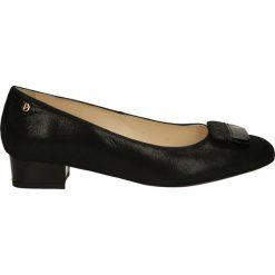 Czółenka - 3997093 NERO. Czarne buty ślubne damskie Venezia, ze skóry. Za 159,00 zł.