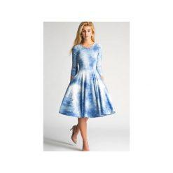 Sukienki hiszpanki: Sukienka FLER Midi Sky