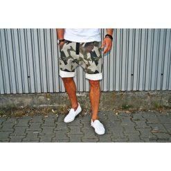 Button jeans short pants krótkie spodenki moro. Szare bermudy damskie Pakamera, z bawełny. Za 379,00 zł.