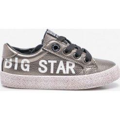 Big Star - Tenisówki dziecięce. Szare buty sportowe dziewczęce marki BIG STAR, z gumy, na sznurówki. Za 99,90 zł.