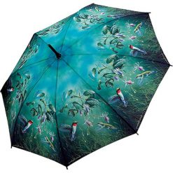 "Parasole: Parasol ""Hautman Hummingbirds"" w kolorze turkusowo-czarnym"