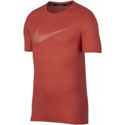 Nike T-Shirt Męski M Nk Brt Run Top Ss Gx Rush Coral Crimson Bliss L. Czerwone t-shirty męskie marki Nike, l, z materiału. Za 105,00 zł.