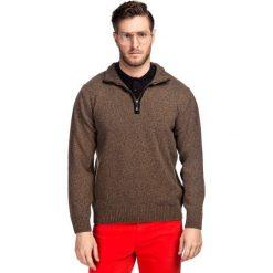 Sweter FILIPPO SWYR000121. Brązowe swetry rozpinane męskie Giacomo Conti, na jesień, m, z tkaniny. Za 199,00 zł.