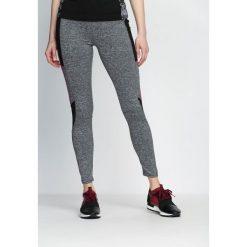 Spodnie damskie: Szaro-Różowe Legginsy Fashion Editor