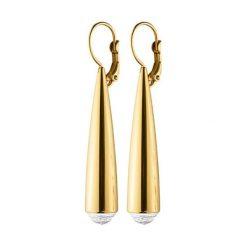 Kolczyki damskie: Kolczyki w kolorze złotym z kryształami Swarovski