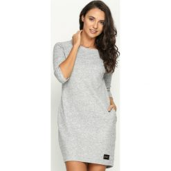 Sukienki: Jasnoszara Sukienka Indiana