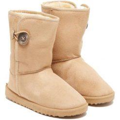Botki w kolorze beżowym. Brązowe buty zimowe damskie Carla Samuel, na zimę. W wyprzedaży za 129,95 zł.