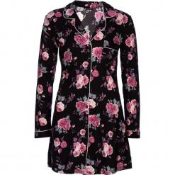 """Koszula nocna """"Classy Dreams"""" w kolorze czarno-różowym. Białe koszule nocne i halki marki LASCANA, w koronkowe wzory, z koronki. W wyprzedaży za 90,95 zł."""