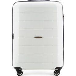 Walizka średnia 56-3T-722-88. Białe walizki marki Wittchen, z gumy, średnie. Za 229,00 zł.