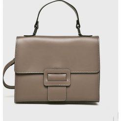 Answear - Torebka. Szare torebki klasyczne damskie ANSWEAR, w paski, z materiału, średnie. W wyprzedaży za 169,90 zł.