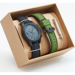 Zegarek z wymiennym paskiem - Khaki. Brązowe zegarki męskie Reserved. Za 79,99 zł.