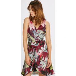 Morgan - Sukienka. Brązowe sukienki mini marki Morgan, na co dzień, m, z poliesteru, casualowe, rozkloszowane. W wyprzedaży za 329,90 zł.