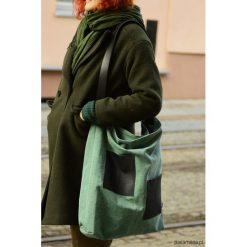 Shopper Blue&Green. Niebieskie shopper bag damskie Pakamera, w paski, z bawełny. Za 130,00 zł.