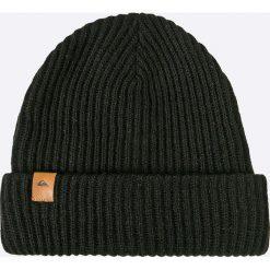 Quiksilver - Czapka. Czarne czapki zimowe męskie Quiksilver, na zimę, z dzianiny. W wyprzedaży za 69,90 zł.