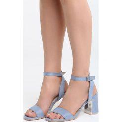 Sandały damskie: Niebieskie Sandały Forest Calm