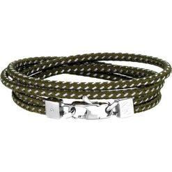 Bransoletki damskie: Bransoletka w kolorze srebrno-khaki z cyrkonią
