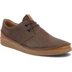 Półbuty CLARKS - Oakland Lace 261353937 Dark Brown Leather. Brązowe półbuty skórzane męskie Clarks. W wyprzedaży za 319,00 zł.