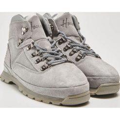 Skórzane buty trekkingowe - Szary. Szare buty trekkingowe damskie marki House. Za 189,99 zł.