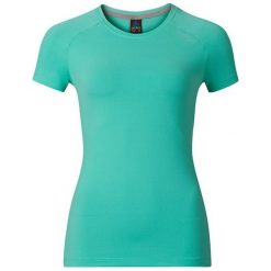 Odlo Koszulka tech. Odlo T-shirt s/s crew neck SILLIAN - 221741 - 221741/40157/S. Niebieskie topy sportowe damskie Odlo, s. Za 169,95 zł.