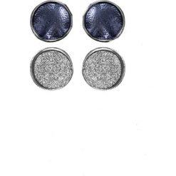 Kolczyki damskie: Ciemnogranatowe okrągłe kolczyki QUIOSQUE