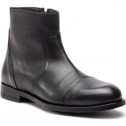 Kozaki TRUSSARDI JEANS - 77A001179 K299. Czarne botki męskie Trussardi Jeans, z jeansu. Za 809,00 zł.