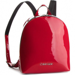 Plecak CALVIN KLEIN - Snap Sml Backpack P K60K604930 640. Czerwone plecaki damskie Calvin Klein, ze skóry ekologicznej, klasyczne. Za 549,00 zł.