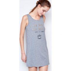 Etam - Koszulka piżamowa. Szare koszule nocne i halki marki Etam, l, z bawełny, z okrągłym kołnierzem. W wyprzedaży za 49,90 zł.